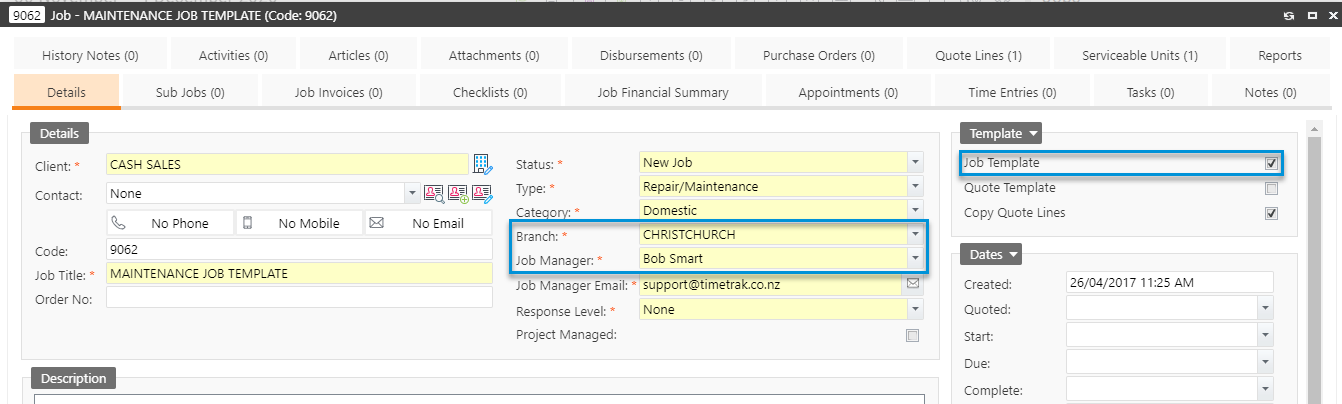 Changes to Job Templates